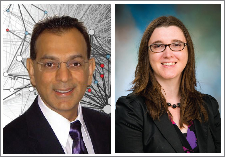 Suresh K. Bhavnani, PhD, and Co-PI Elizabeth Lyons, PhD, MPH